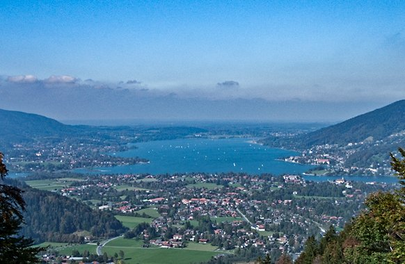 Wallberg-Panoramastrasse in Rottach-Egern am Tegernsee
